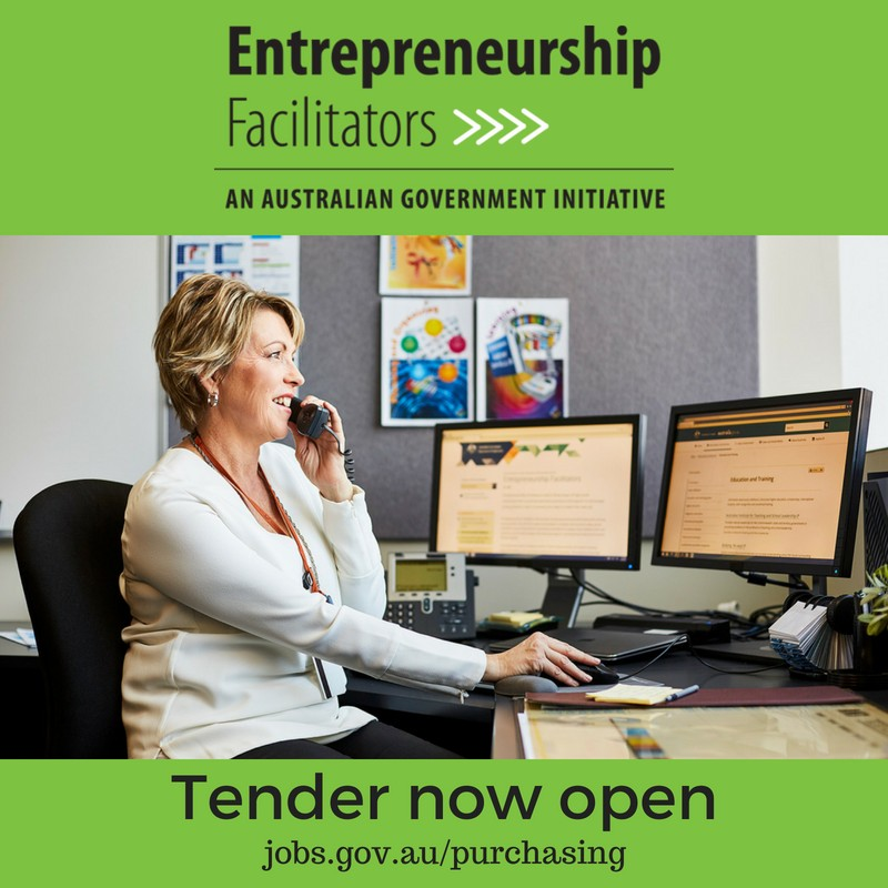 Request for Tender for Entrepreneurship Facilitator Services now open